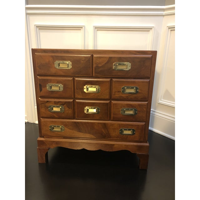 Italian Campaign Style Chest of Drawers For Sale - Image 11 of 12