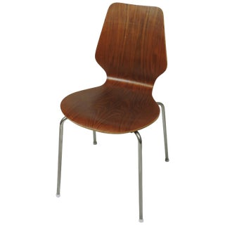 Midcentury Danish Modern Bentwood Dining, Side or Desk Chair For Sale