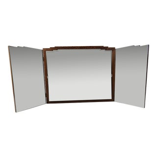 French Art Deco Period Folding Dressing Mirror For Sale