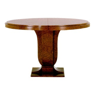 Art Deco Fleuret Extension Pedestal Table For Sale