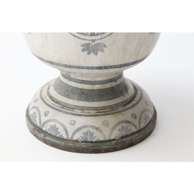 Enameled Cast Iron Rouen Urn For Sale In Houston - Image 6 of 13