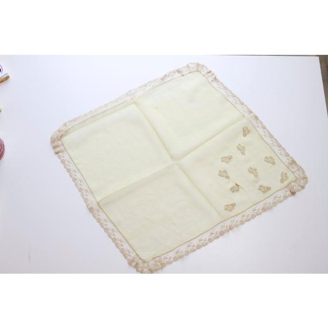 1920's Art Deco Green Silk Crepe Flapper Handkerchief - Image 7 of 10