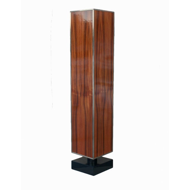 MarGian Studio Rosewood and Lacquer Pedestal or Column For Sale - Image 4 of 5