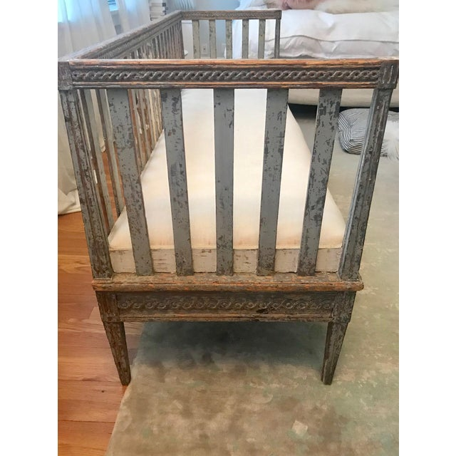 Early 19th Century Vintage Gustavian Bench For Sale - Image 12 of 13
