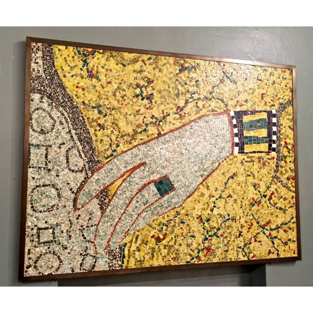 Mid 20th Century Mid-20th Century Mosaic of Egyptian Hand For Sale - Image 5 of 5