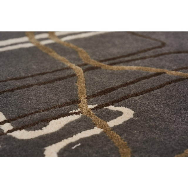 Early 21st Century Schumacher Movement Abstract Area Rug in Hand-Tufted Wool Silk, Patterson Flynn Martin For Sale - Image 5 of 7