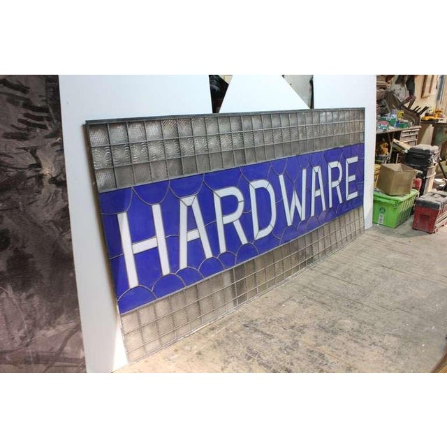"""9 Ft Long 1900's Stained Glass """" Hardware """" Sign - Image 2 of 3"""