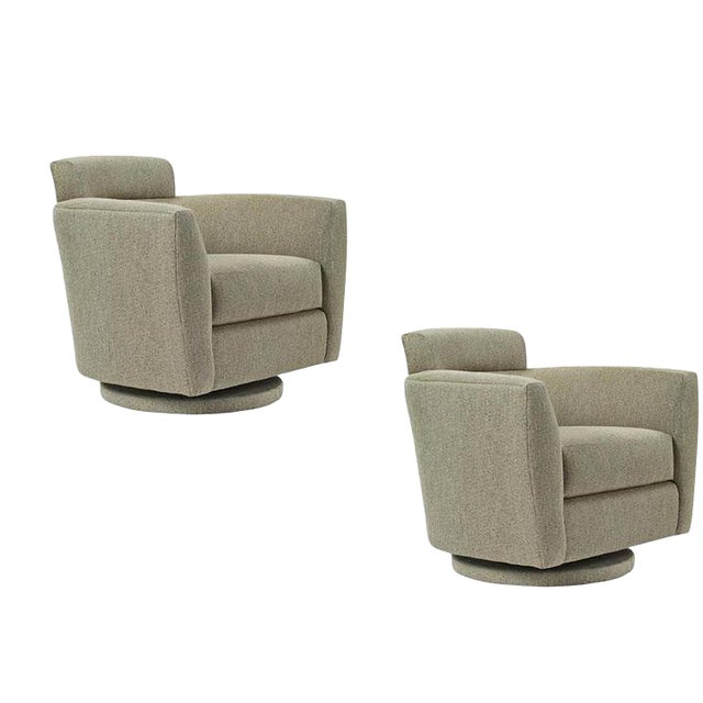 Modern Swivel Chairs - A Pair For Sale
