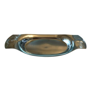 Kensington Aluminum Etched Bread Tray With Pineapple Design For Sale