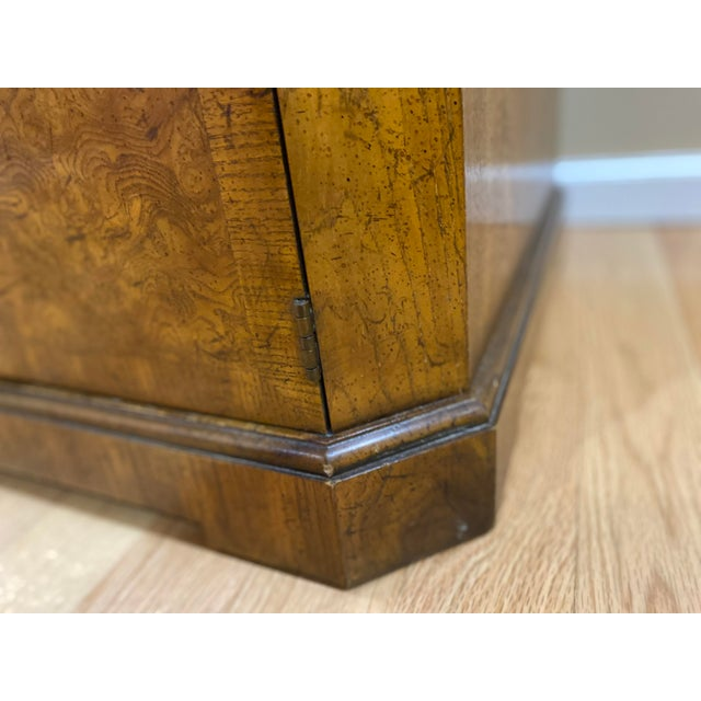 Wood Vintage Drexel Heritage Wood Table With Storage For Sale - Image 7 of 8
