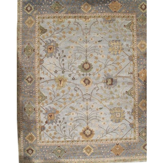 """Pasargad NY Turkish Oushak Design Hand-Knotted Rug - 12'3"""" x 15' For Sale"""