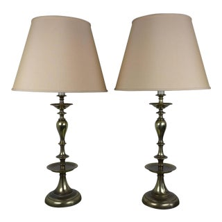 American Mid Century Modern Brass Lamps - a Pair For Sale