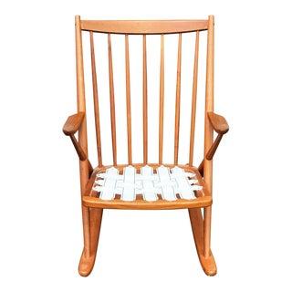 Frank Reenskaug for Bramin Danish Modern Teak Rocking Chair For Sale