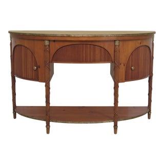 Baker Demilune Shaped Regency Style Pine Sideboard For Sale