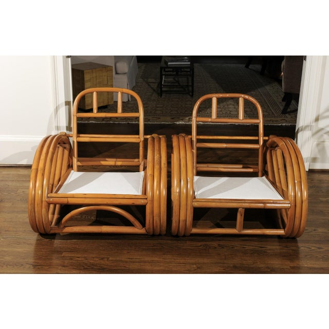 Pair of 1950s Restored Pretzel Loungers For Sale - Image 10 of 13