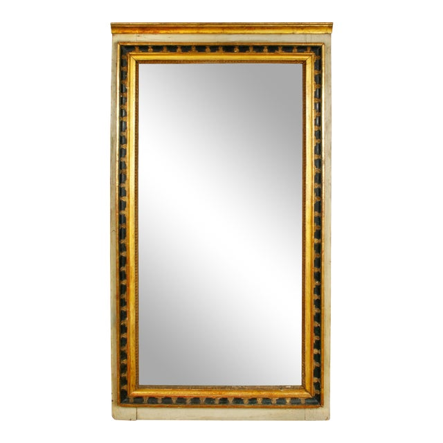Italian Painted and Parcel-Gilt Mirror For Sale