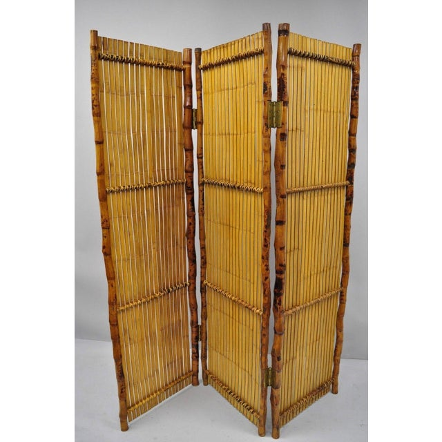 Pleasant Late 20Th Century Bamboo Wood Panel Room Divider Download Free Architecture Designs Scobabritishbridgeorg