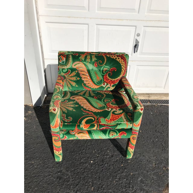 Very clean, very sturdy Parsons chair from Kaylyn Inc., a division of Hickory Furniture Co. There is so much incredible...