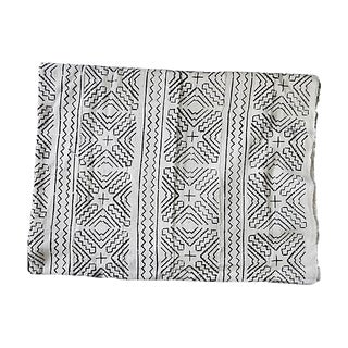 Lg Black & White Mali Mud Cloth Textile For Sale
