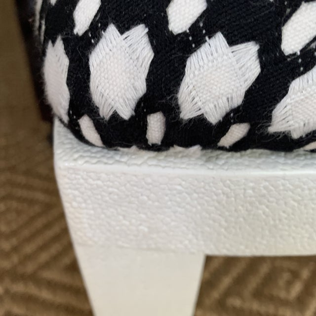 Wood White Made Goods Faux Shagreen Side Chairs- a Pair For Sale - Image 7 of 11