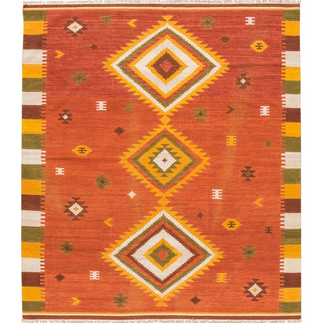 "Apadana - Modern Kilim Rug, 8'7"" x 9'9"" For Sale"