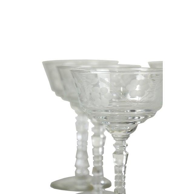 Vintage Etched Goblets - Set of 9 - Image 4 of 4