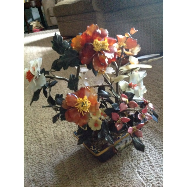 20th Century Shell Stone Japanese Bonsai Flower Sculpture For Sale In Cleveland - Image 6 of 13