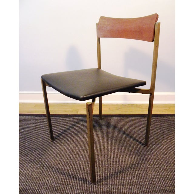 Mid-Century Floating Seat Metal Chairs - A Pair - Image 6 of 8