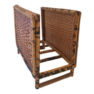 English Burnt Bamboo Mail Holder For Sale