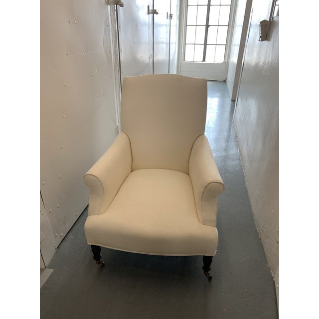 American Contemporary Williams Sonoma Home Upholstered Occasional Chairs - a Pair For Sale - Image 3 of 11