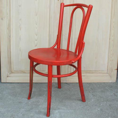 Red French Bentwood Dining Chair - Image 2 of 7