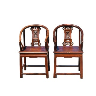Antique Carved Lady's Chairs - A Pair