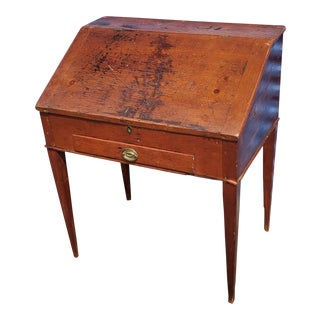 American Primitive Mid Atlantic Slant Front Child's Desk For Sale
