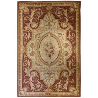 "French Aubusson Carpet- 9'10"" x 15'11"" For Sale"