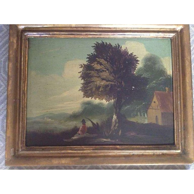 Pair of 19th Century Italian Landscapes - Image 2 of 9