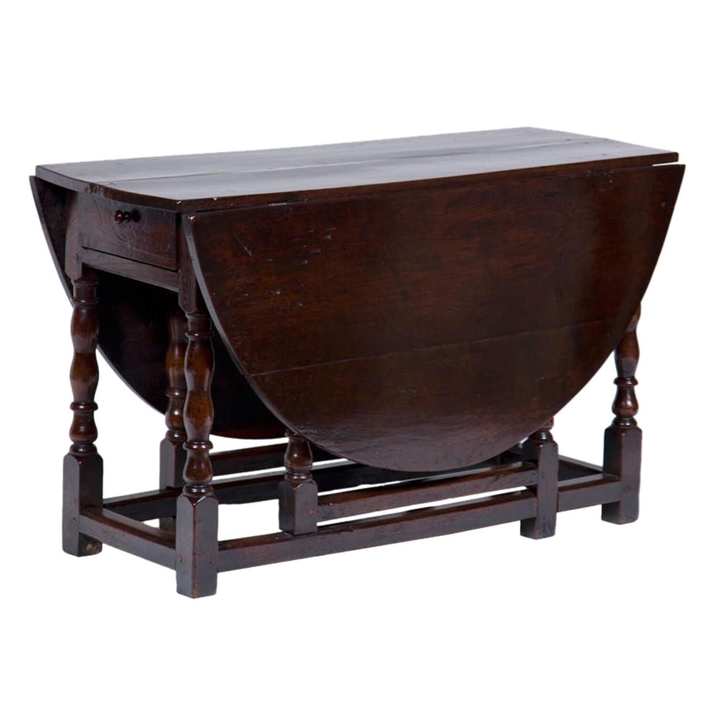 Merveilleux Antique English Oak Drop Leaf Table For Sale   Image 5 Of 5