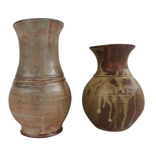 Evan Jon Designer Studio Art Pottery - Pair For Sale