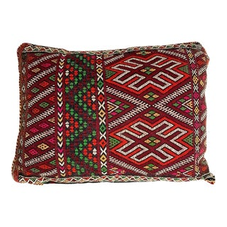 "Vintage Moroccan Spider Symbol Pillow - 18"" X 14"" For Sale"
