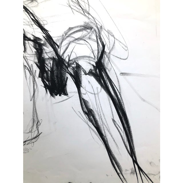 """""""Seated Shifting Figure"""", by Artist David O. Smith - Scale Contemporary Figure Drawing in Charcoal For Sale - Image 10 of 12"""