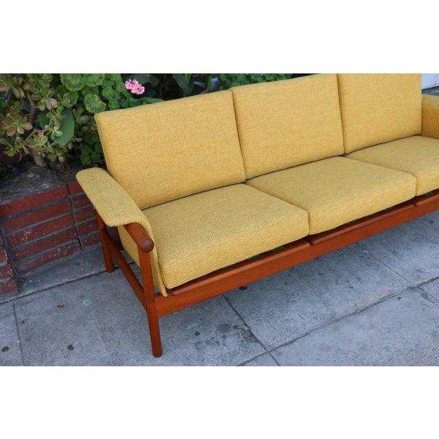 Mid-Century Modern Mid Century Modern Mustard Sofa For Sale - Image 3 of 11