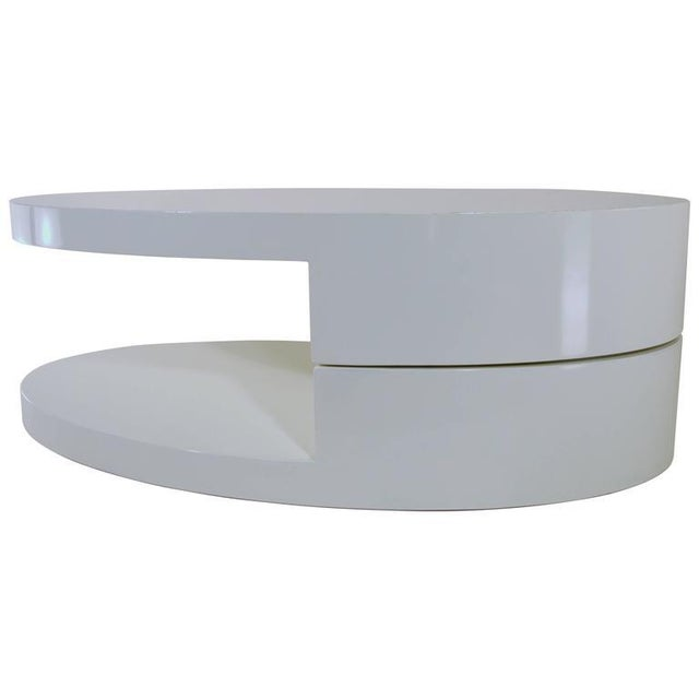 Rotating Coffee Table in the Manner of Gabriella Crespi For Sale - Image 9 of 9