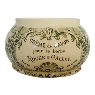 Roger & Gallet Creme De Savon Shaving Jar For Sale