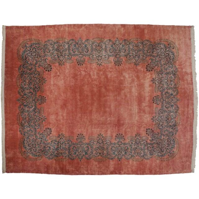 """Textile Vintage Fine Kerman Carpet - 11'3"""" X 14'2"""" For Sale - Image 7 of 8"""