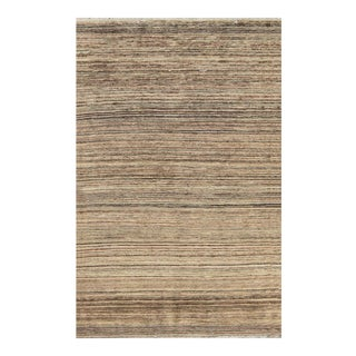 "Contemporary Hand Woven Rug - 4'2"" X 6'6"" For Sale"