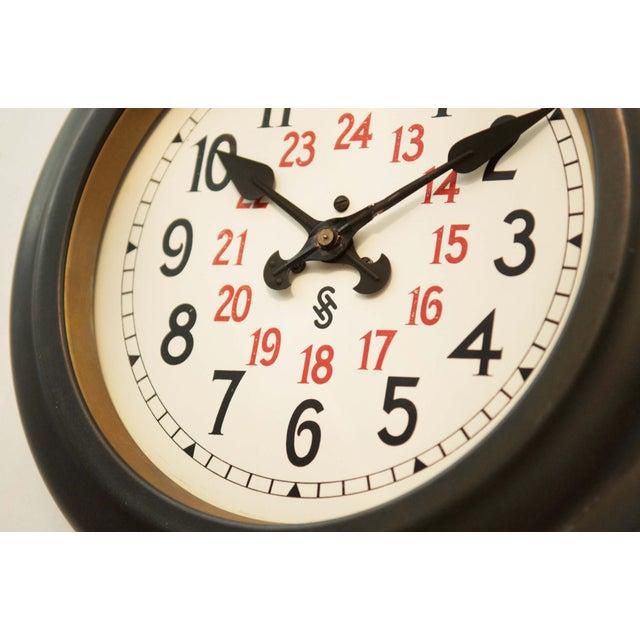 1930s Bauhaus Workshop Wall Clock by Siemens Halske, 1930s For Sale - Image 5 of 7