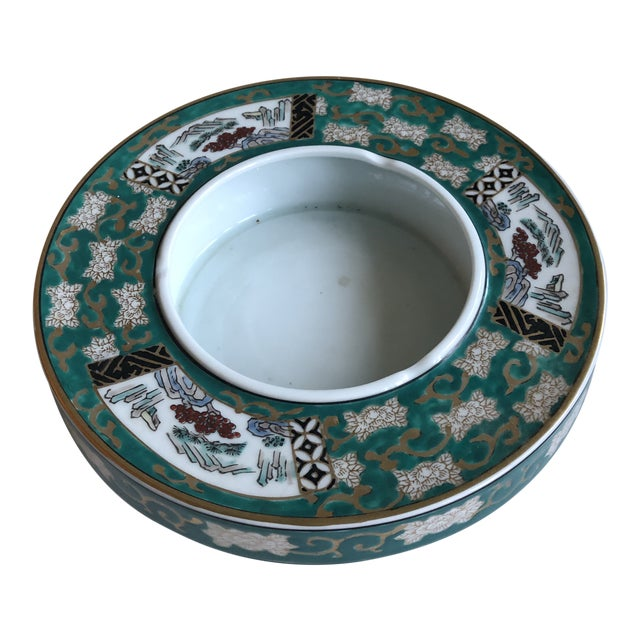 Vintage Japan Gold Imari Hand Painted Ashtray For Sale