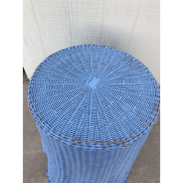 Draped Wicker Rattan Tables - A PAir - Image 4 of 8
