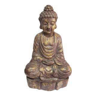 Late 20th Century Ceramic Buddha Sculpture For Sale