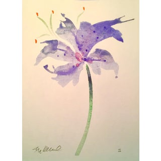 """""""Blue Star"""" Original Watercolor Painting For Sale"""