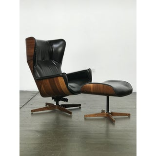 Scarce Wing-Back Mr. Chair Lounge and Ottoman by George Mulhauser for Plycraft Preview